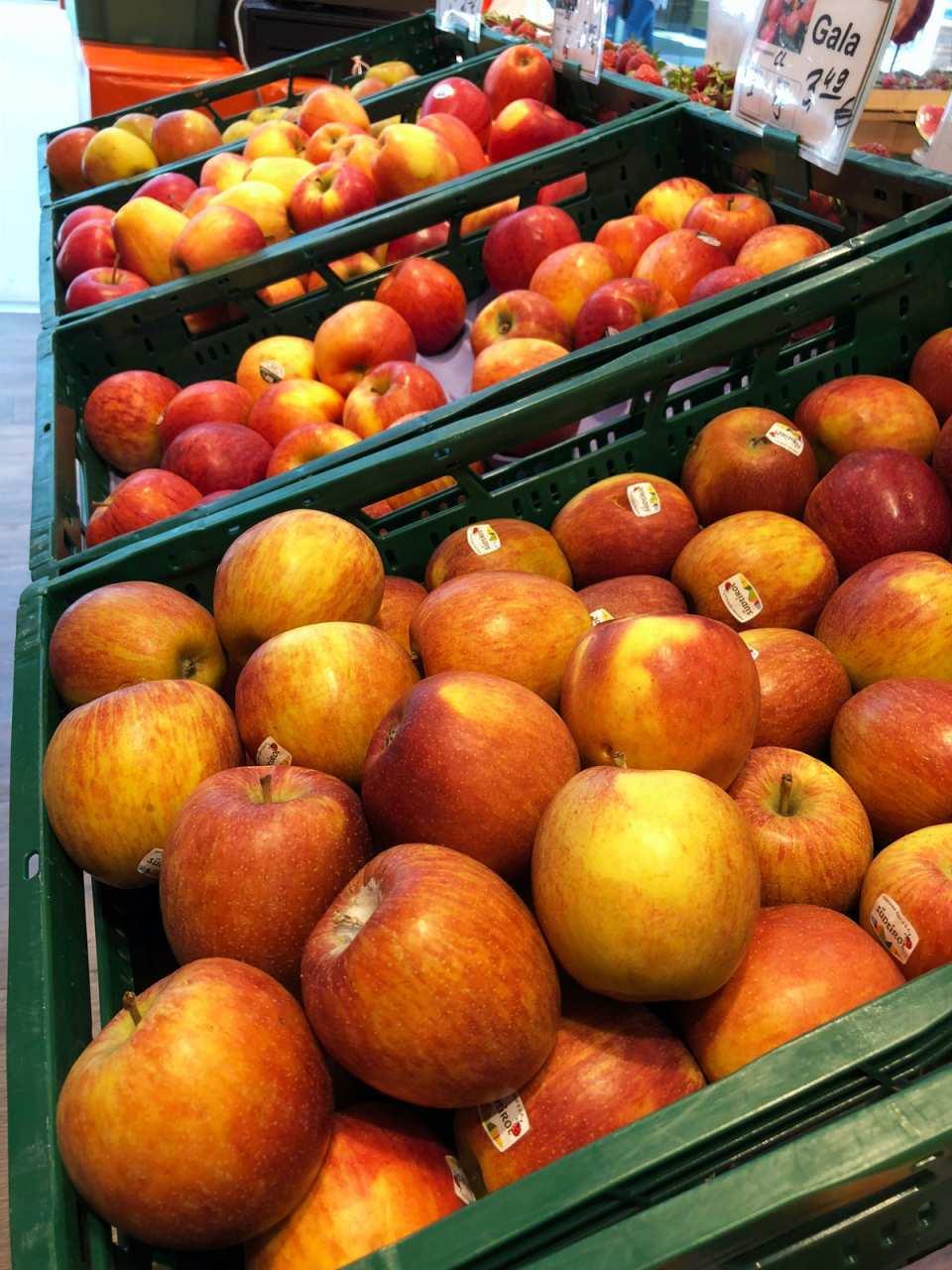 Früchte Brandenburgs: Beim Frische-Express gibt's eine große Auswahl an Apfelsorten aus der Region.