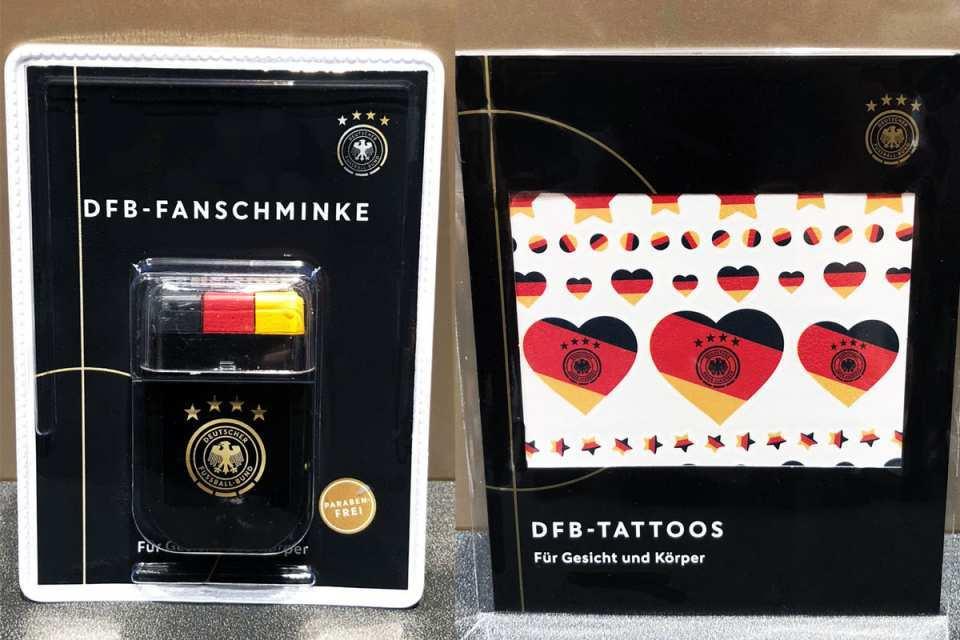 Mit dem schwarz-rot-goldenen Schminkstift und coolen Fan-Tatoos von Douglas zeigst du besonders schicke Unterstützung