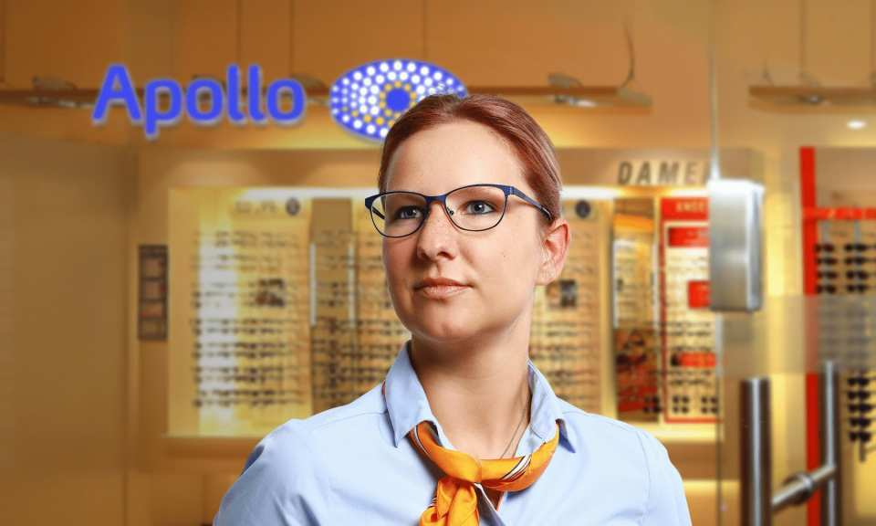 GUTE OPTIK<br> GUTER TYP<br> Frau Friedland – Apollo